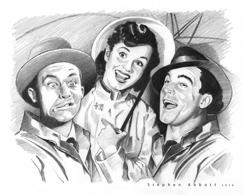 Donald O'Connor, Debbie Reynolds, Gene Kelly by StephenAbbott